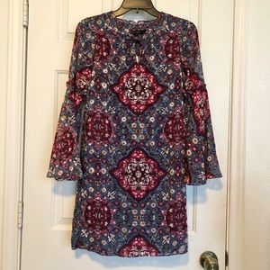 WhiteHouseBlackMarket Printed Dress Size XXS